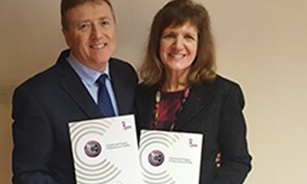 Chartered success for husband and wife Sheila and David Roberts