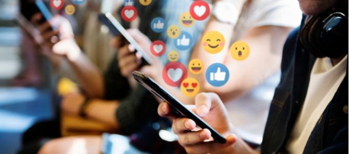 Social Media Bursting From Phone